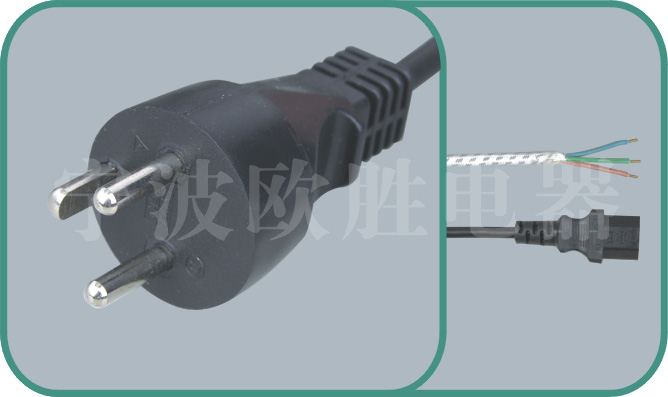 Denmark power cord,Y011 16A/250V
