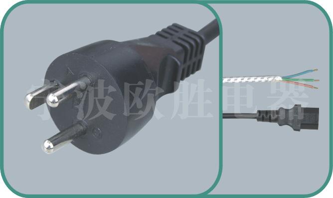 Denmark standards power cord,Y011 16A/250V