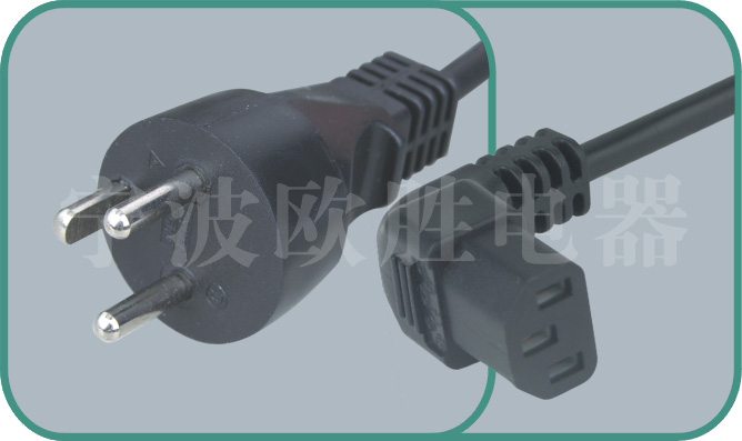 Denmark power cord,Y011/ST3-F 16A/250V,israel power cord,israel adapter plug