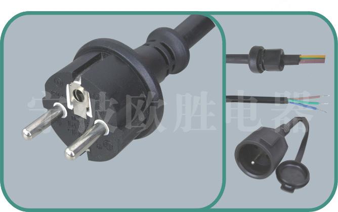 Europe VDE power cords,S03-F 16A/250V,VDE power cord,vde cord,vde plug