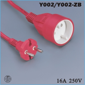 Extension cord,France Extension cord Y002 Y002-ZB,ac extension cord,extension cable cord,extension power cord