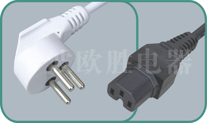 Israel power cords,JY17/ST3-H 10A/250V,israel power cord,israel adapter plug