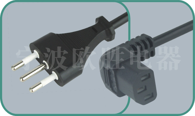 Italy IMQ power cords,OS11/ST3-F 10A/250A,israel power cord,israel adapter plug