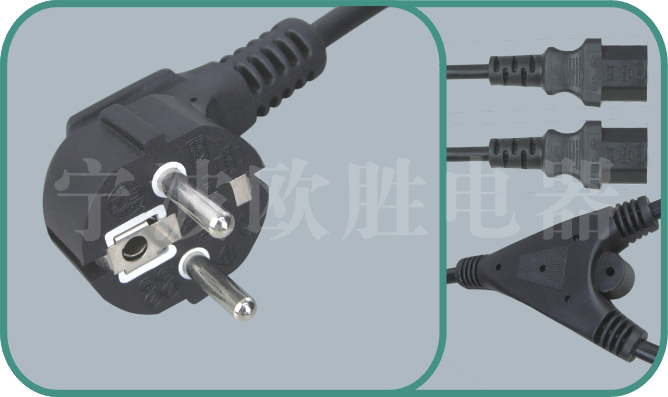 Korean KSC power cords,S03/OS-2T 10A/250V,korean cord,korean power cord