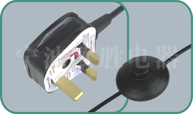 Power cord with switch,Y006/switch1 3A-13A 250V,inline power cord switch,power switch cord
