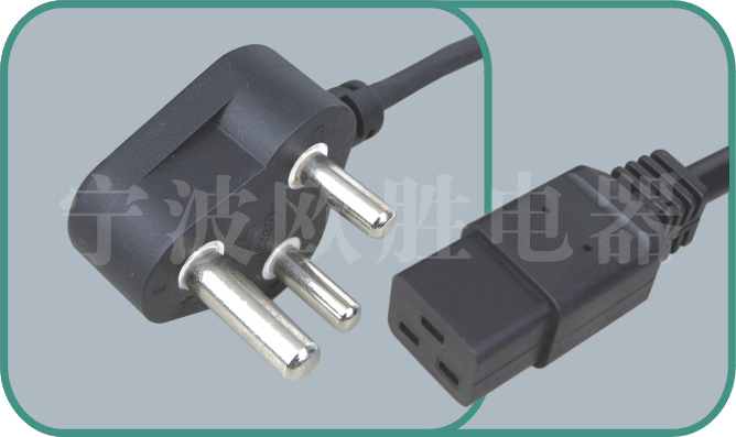 South Africa SABS power cord,N02/LA101E 15A/250V