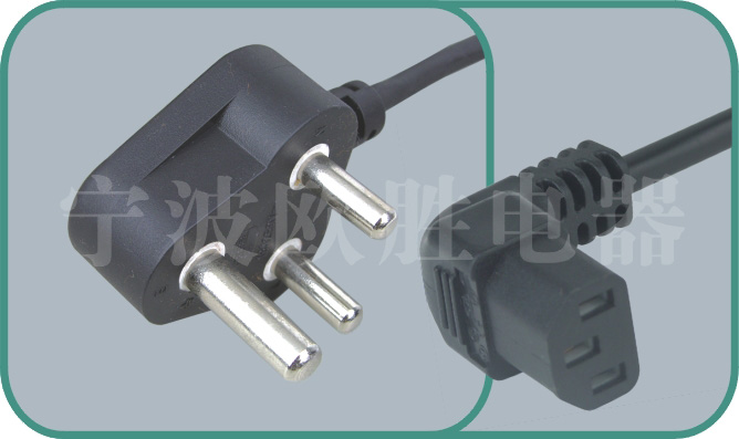 South Africa SABS power cord,N02/ST3-F 15A/250V,power cord,ac power cord