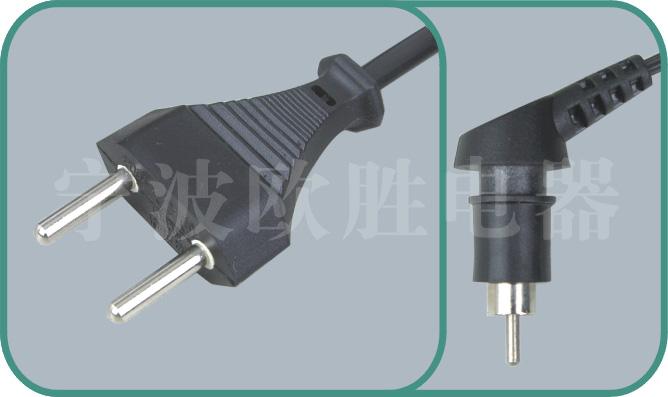 Swiss SEV power cords,OS08/XX-104 10A/250V,Swiss power cord,sev plug
