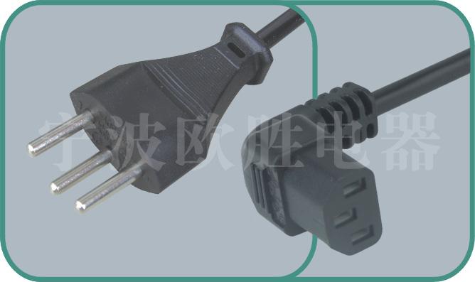 Swiss power cord,sev plug