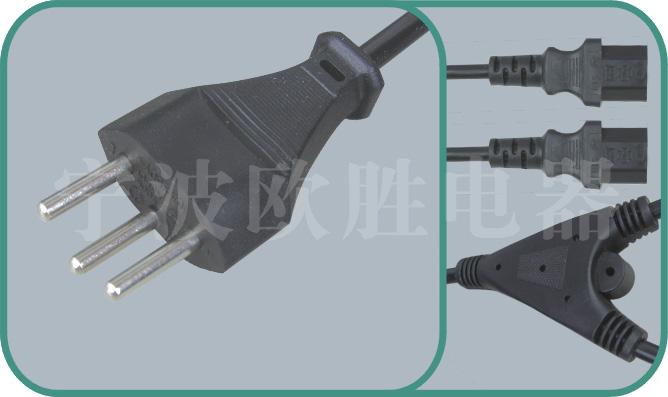 Swiss power cord,sev plug